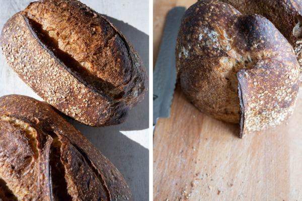 Guarde el pan con el lado cortado hacia abajo