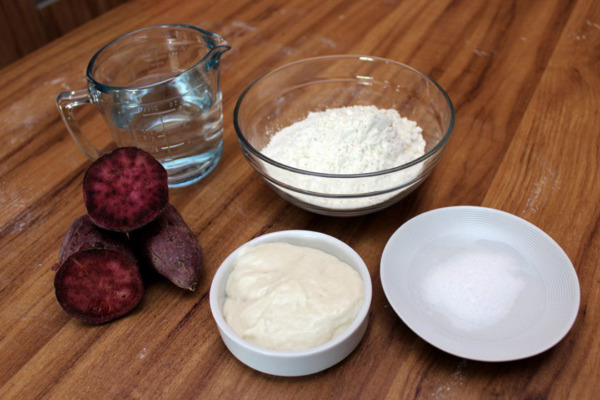 Pan Morado De Camote - Ingredientes