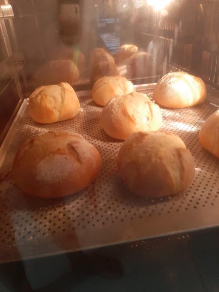 hornear pan de hamburguesa madero