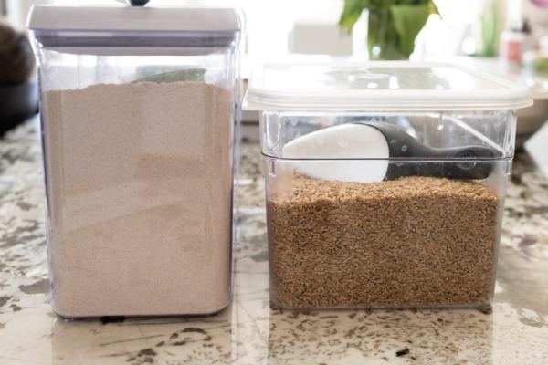 La mejor forma de almacenar harina.