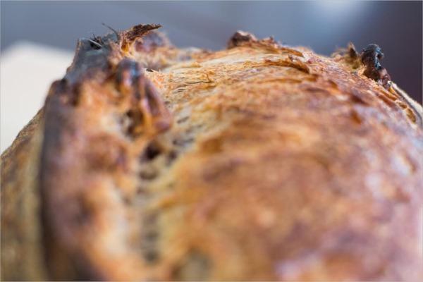 Orejas de masa madre de nueces de tartine country