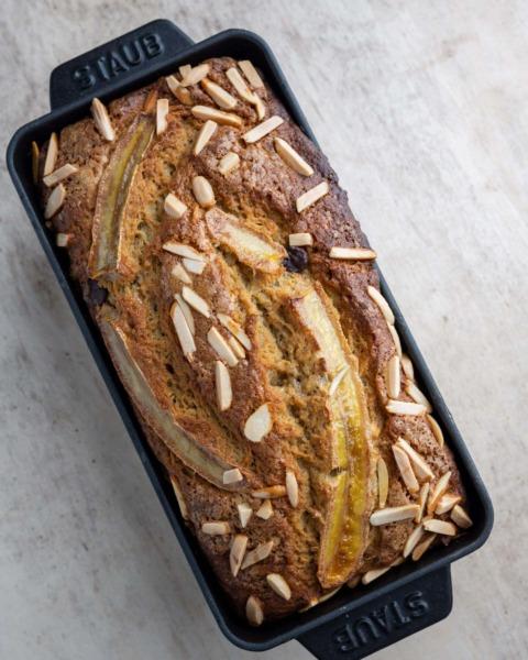 Pan de plátano de masa madre