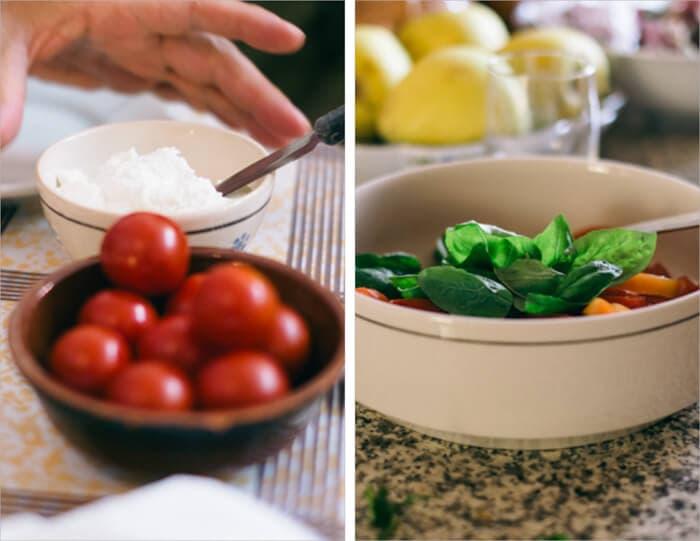 Receta de Bruschetta de masa madre con tartina, tomates y albahaca