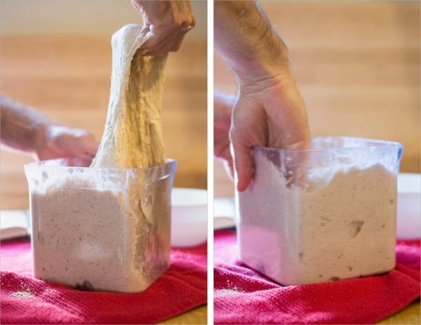 masa en recipiente a granel