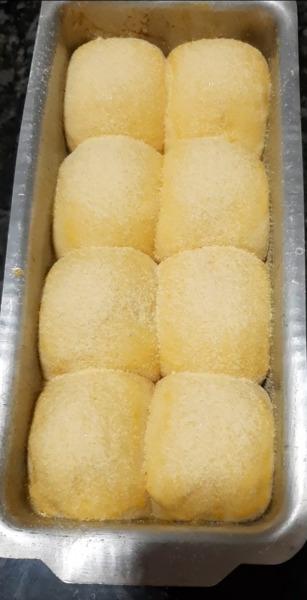 pan de maíz listo para hornear
