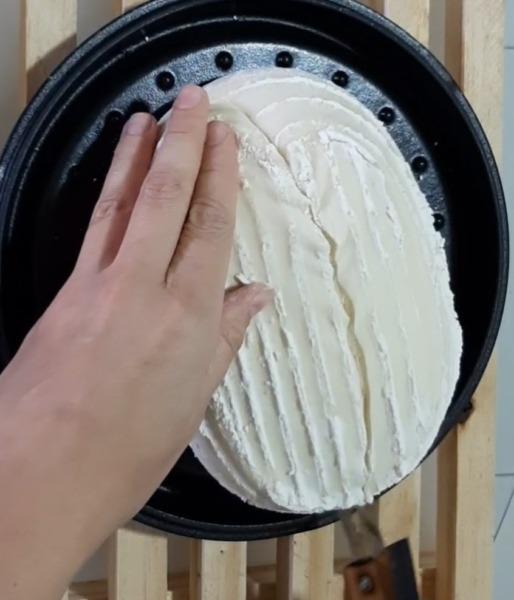 cortado en pan ovalado