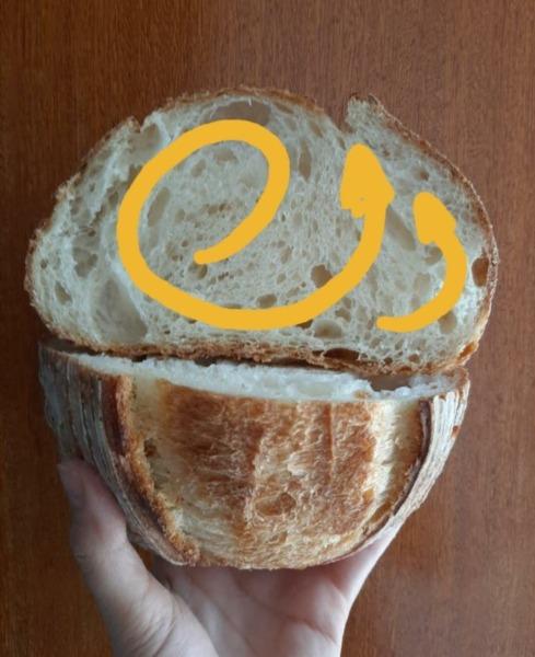ruta de aire en el pan