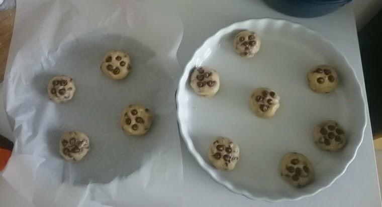 galletas en molde para hornear
