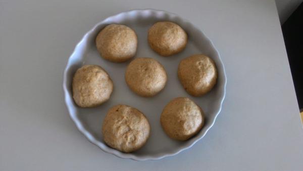 masa de pan integral fácil que crece en lata