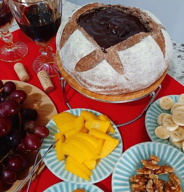 Fondue de chocolate en pan australiano