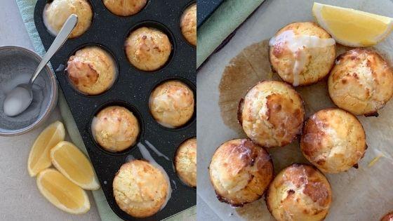 Muffins de limon con masa madre The Pantry Mama