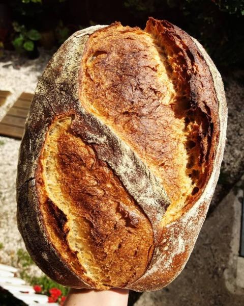 Pan de fermentacion natural