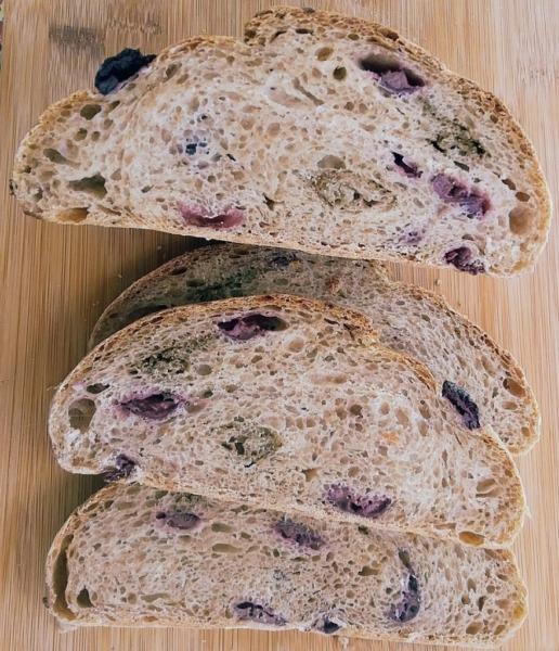 Pan de fermentación natural con harina integral