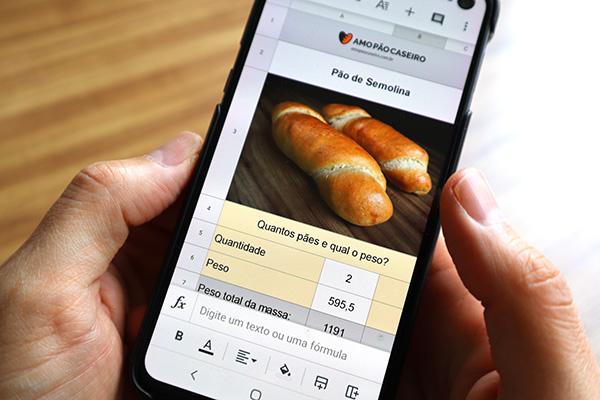 Hoja de cálculo de pan de sémola
