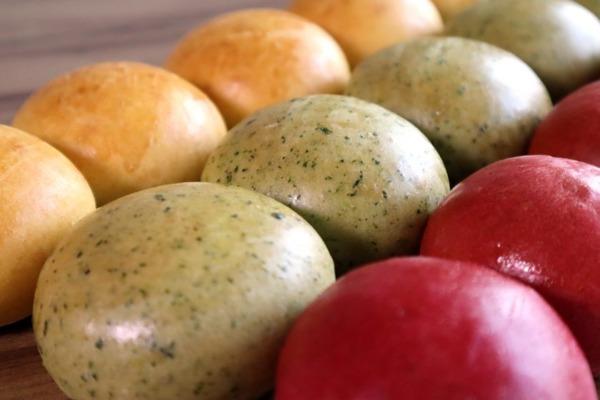 Panes Colirdos con Verduras