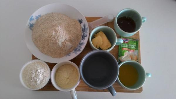 ingredientes separados